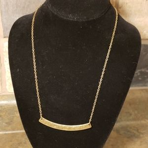 Lucky Brand Gold Bar Necklace